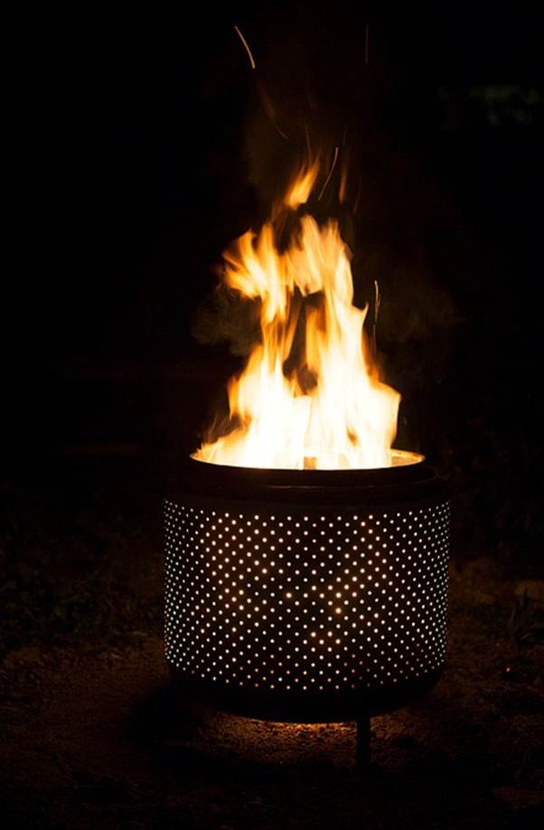 upcycled fire pit