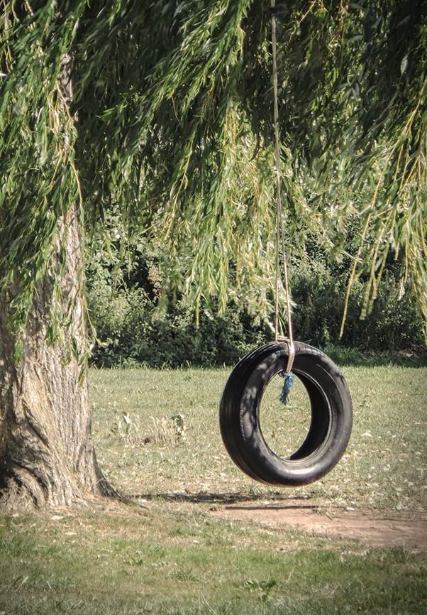 Upcycled Tire Swing